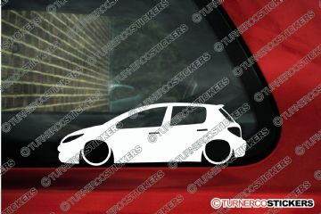 2x Lowered car outline stickers - Peugeot 307 5-door